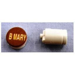 Button cap BMARY white lettering brown cap