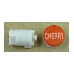 Button cap CHERRY white lettering red cap