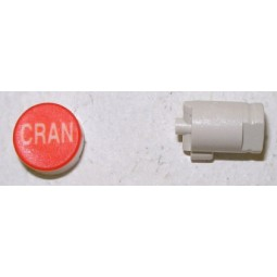 Button cap CRAN white lettering red cap