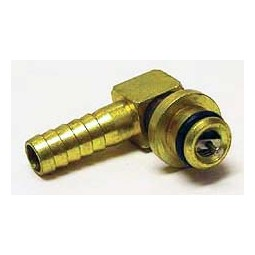 "SHURflo 1/4"" brass barb elbow CO2 inlet with check valve"