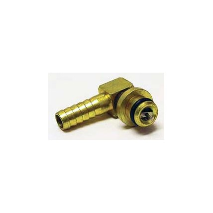 """SHURflo 1/4"""" brass barb elbow CO2 inlet with check valve"""