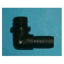 "SHURflo juice pump inlet 3/8"" poly barb elbow"