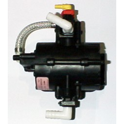 "SHURflo particulate pump, 1/2"" plastic barb elbow liquid in, 1/2"" plastic barb elbow liquid out"