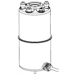 Assembly, carbonator, weld, top & bottom, small tank, 3/8 MFL w/stud
