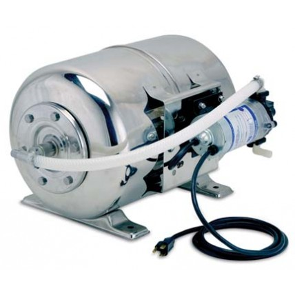 """Maxi boost syst, 6 gal tank, 115V, 90 psi, 1.6 GPM, 1/2"""" SS barb inlet/outlet"""