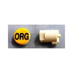 Button cap ORG black lettering orange cap
