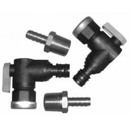 Shurlock quick-connect swivel ball valves and SS fittings kit