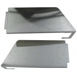 "Side mounted splash guards, 30"" and 44"" models"