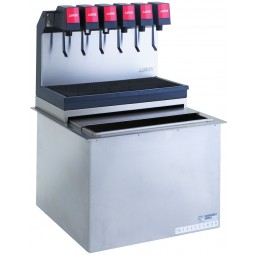 Drop-in 15x22, high performance Sabre dispenser, 5 LEV self-serve lever valves