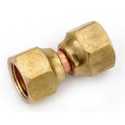 Brass swivel nut union 1/4 FFL