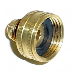 Brass swivel adapter 3/4 FGH x 3/8 MFL