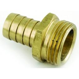Brass 3/8 barb x 3/4 MGH
