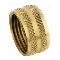 Brass female garden hose cap 3/4