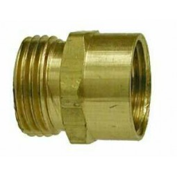 Brass adapter 3/4 MGH x 1/2 FPT