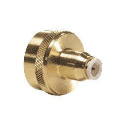 Brass/PP FGH connector tube 3/8 OD x 3/4-11.5 NH national hose thread