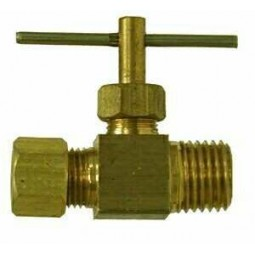 Needle valve 1/4 compression x 1/4 MPT
