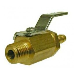 Ball valve 1/4 MPT x 1/4 barb