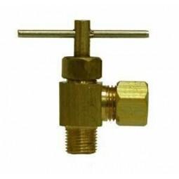 Needle valve elbow 1/4 compression x 1/8 MPT