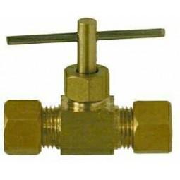 Brass needle valve 1/4 compression