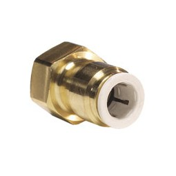 Brass flare connector tube 1/4 OD x 1/4 FFL, lead free