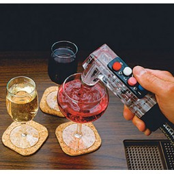 2 button gun, wine