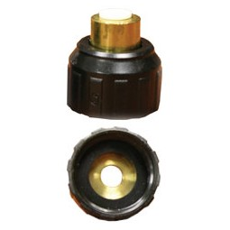 Brass 3/8 OD tube x 3/4 BSPP thread female connector John Guest