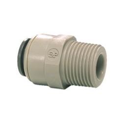 Male connector tube 3/8 OD x 3/8 NPTF