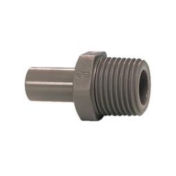 Adapter stem 1/2 OD x 1/2 BSPT