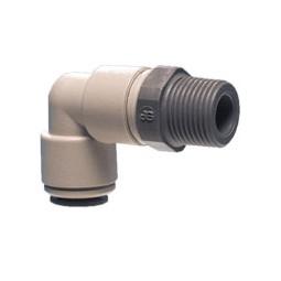 Swivel elbow tube 1/4 OD x 1/4 BSPT