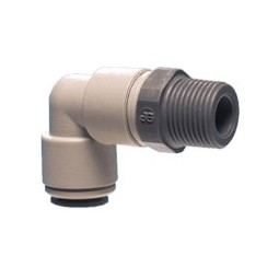 Swivel elbow tube 3/8 OD x 1/4 MPT