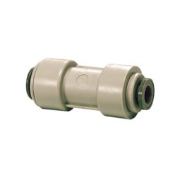 Reducing straight connector tube 3/8 x 5/16 OD