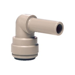 Plug-in elbow stem 3/8 OD x tube 3/8 OD