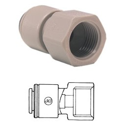 Connector tube 1/4 OD x 1/4 FPT