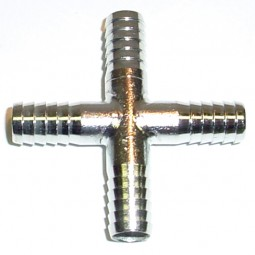 Cross (4) 1/4 barb SS