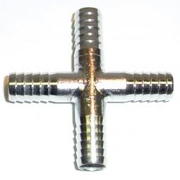 Cross (4) 3/8 barb SS