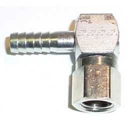 Elbow 1/2 barb x 3/8 FFL swivel nut SS