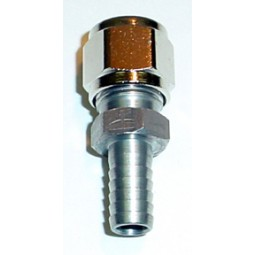 Adapter 3/8 compression x 1/4 barb, no O-ring, SS