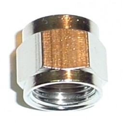 "Swivel nut 5/16 FFL (1/2""-16) nickel plate brass"