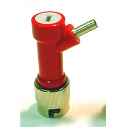 "Gas socket, 1/4"" barb, long"