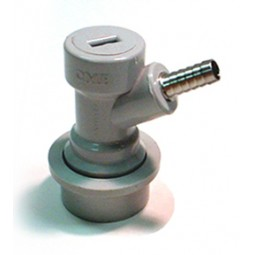 "Gas socket, 1/4"" barb, gray"