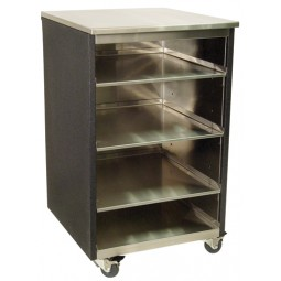"Bar glass storage stainless exterior 18W x 24""D"