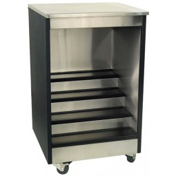 "Bar liquor display stainless exterior 30W x 24""D"