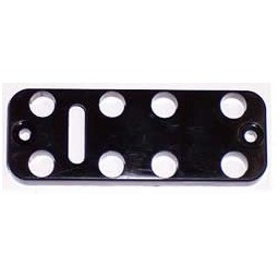 Button plate, 8, black, juice