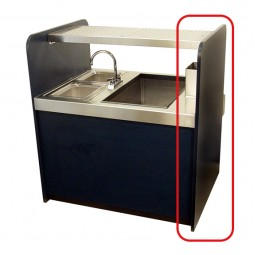 "Stainless steel end panel for 32"" deep coctail station *upgrade, not sold separately"