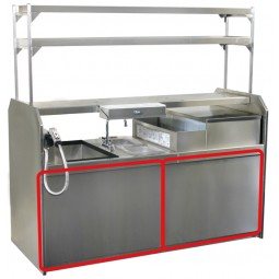 "Stainless steel front panel for 66"" coctail station station (2 required) *upgrade, not sold separately"
