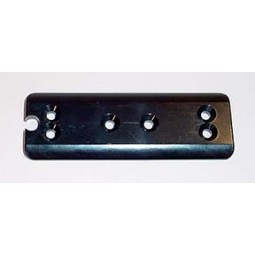 Button plate, 12, black