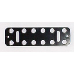 Button plate, 14, black