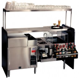 "Assembly style pass-thru cocktail station 60 x 32"" counterclockwise"