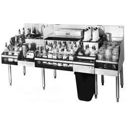"Underbar SS 72""W All-In-One Station with 10-circuit cold plate"