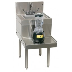 "Underbar SS blender station with sink left faucet location 18""W x 24""D"